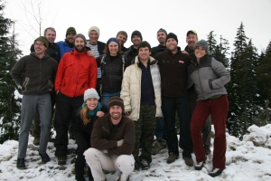 "EverGreen ""Escape Artists"" on a winter cross country ski trip in Whistler, BC"