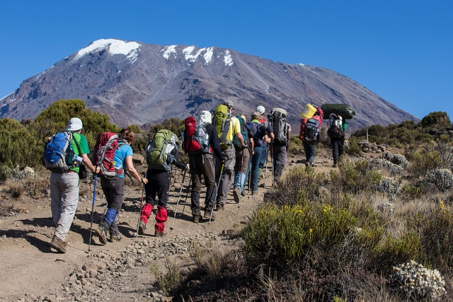 Hikers on their way up Mt. Kilimanjaro by hyperfocaldistance on Flickr