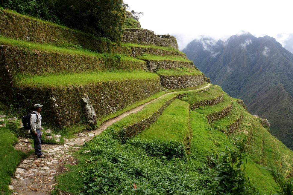Terraces farmed in ancient times along the Inca Trail
