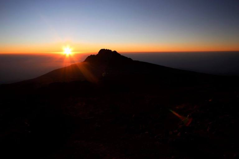 Sunrise behind Mawenzi Peak.