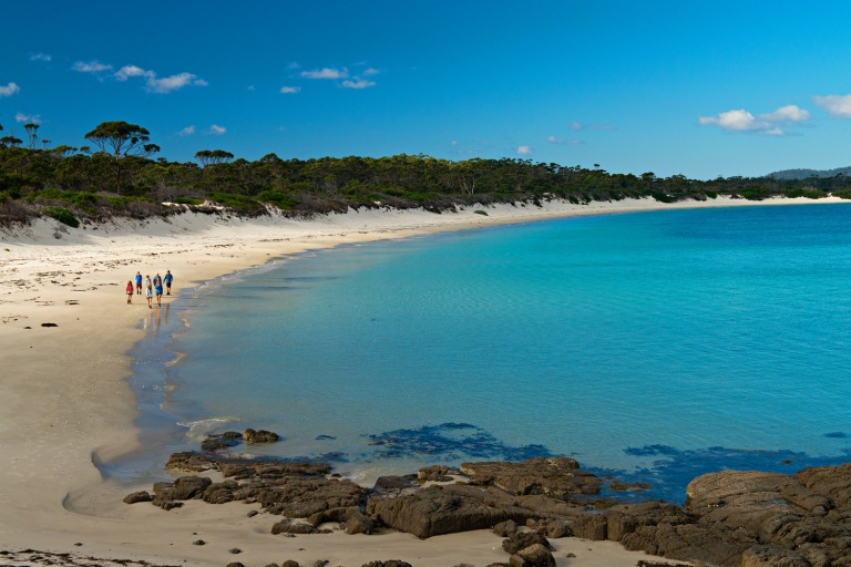 Stunning beaches of Maria Island